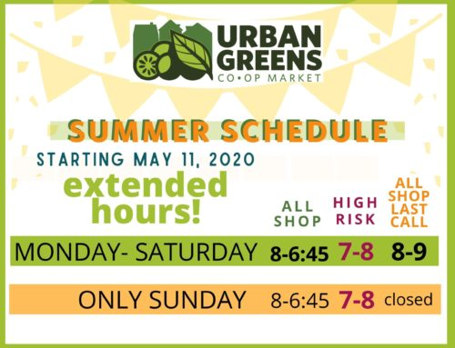 NEW Spring/Summer Hours in effect!